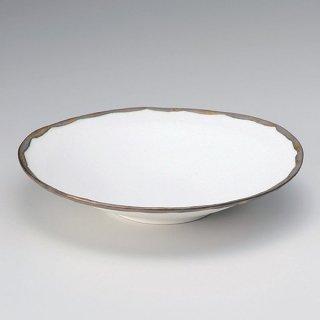 金釉流し白大平鉢 和食器 大鉢 業務用 約28.2cm 和風 鉢 盛鉢 モダン おしゃれ 日本料理 割烹料理 盛り合わせ 盛り込み 刺身 サラダ