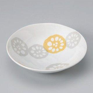黄れんこん4.5浅鉢 和食器 小鉢(大) 業務用 約14.6cm 和食 和風 鉢 サラダ 枝豆 煮物 冷奴 刺身 おひたし