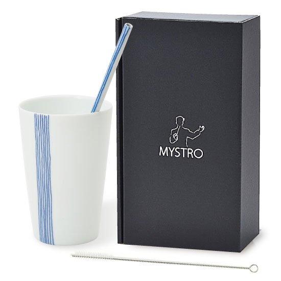 MYSTRO Primo マイストロプリモ&プリモタンブラー 五月雨 オリジナルBOX入り ギフト 贈り物 マイストロー おみやげ ストロー 陶器 陶製 陶磁器ストロー おしゃれ 脱プラスチックv