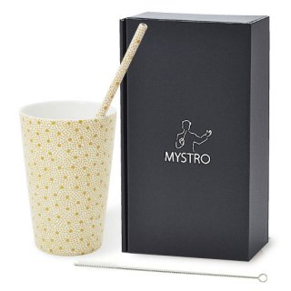 MYSTRO Primo マイストロプリモ&プリモタンブラー スターダスト オリジナルBOX入り ギフト 贈り物 マイストロー おみやげ ストロー 陶器 陶製 陶磁器ストロー おしゃれ 脱プラスチック