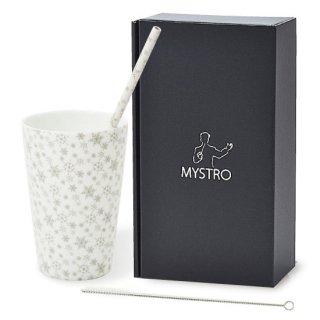 MYSTRO Primo マイストロプリモ&プリモタンブラー スノーホワイト オリジナルBOX入り ギフト 贈り物 マイストロー おみやげ 陶磁器ストロー おしゃれ 脱プラスチック
