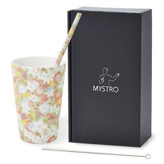 MYSTRO Primo マイストロプリモ&プリモタンブラー スプリングガーデン オリジナルBOX入り ギフト 贈り物 マイストロー おみやげ 陶磁器ストロー おしゃれ 脱プラスチック