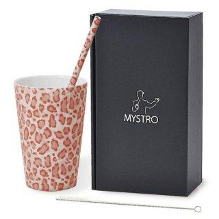 MYSTRO Primo マイストロプリモ&プリモタンブラー アニマルピンク オリジナルBOX入り ギフト 贈り物 マイストロー おみやげ 陶磁器ストロー おしゃれ 脱プラスチック