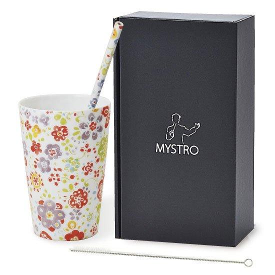 MYSTRO Primo マイストロプリモ&プリモタンブラー なごみ オリジナルBOX入り ギフト 贈り物 マイストロー おみやげ ストロー 陶器 陶製 陶磁器ストロー おしゃれ 脱プラスチック