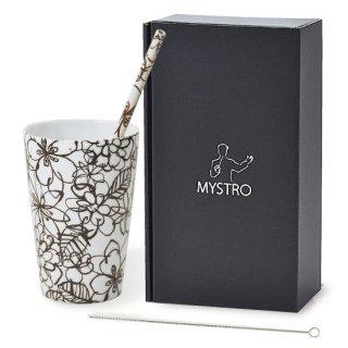 MYSTRO Primo マイストロプリモ&プリモタンブラー ショコラ オリジナルBOX入り ギフト 贈り物 マイストロー おみやげ ストロー 陶器 陶製 陶磁器ストロー おしゃれ 脱プラスチック