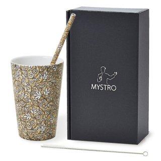 MYSTRO Primo マイストロプリモ&プリモタンブラー アンティーク オリジナルBOX入り ギフト 贈り物 マイストロー おみやげ ストロー 陶器 陶製 陶磁器ストロー おしゃれ 脱プラスチック