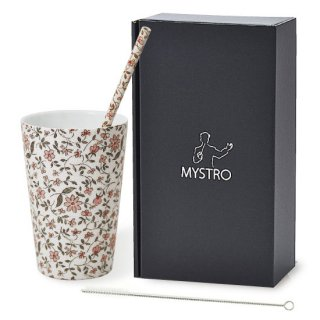 MYSTRO Primo マイストロプリモ&プリモタンブラー ノスタルジア オリジナルBOX入り ギフト 贈り物 マイストロー おみやげ ストロー 陶器 陶製 陶磁器ストロー おしゃれ 脱プラスチック