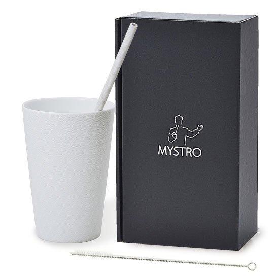 MYSTRO Primo マイストロプリモ&プリモタンブラー 紗紋 オリジナルBOX入り ギフト 贈り物 マイストロー おみやげ ストロー 陶器 陶製 陶磁器ストロー おしゃれ 脱プラスチック
