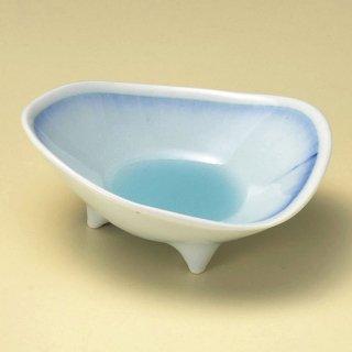 青白磁藍流し小鉢 和食器 小鉢(大) 業務用 約14cm ブルー系 和食 和風 鉢 和え物 高級 料亭 酢の物 おひたし 刺身