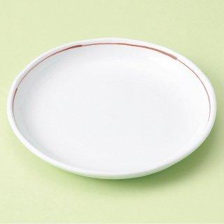 赤ライン5.0丸皿 和食器 フルーツ皿・銘々皿・取皿 業務用