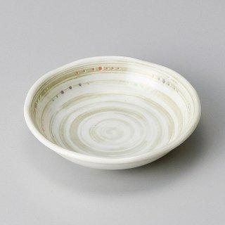 水玉粉引うず3.0深皿 和食器 小皿 業務用