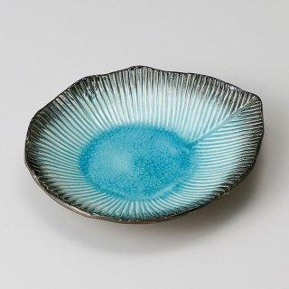 藍染スカイ葉型5寸皿 和食器 フルーツ皿・銘々皿・取皿 業務用