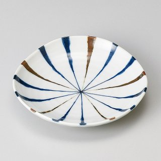 藍十草4.0皿 和食器 フルーツ皿・銘々皿・取皿 業務用