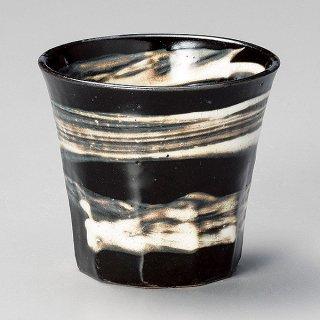 黒釉刷毛目焼酎カップ 和食器 ロックカップ 業務用