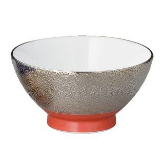 波紋EGアカ巻茶碗 S 和食器 飯碗 業務用