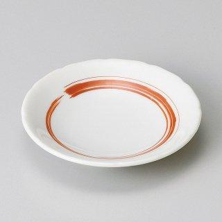 赤刷毛花型3.0皿 和食器 小皿 業務用