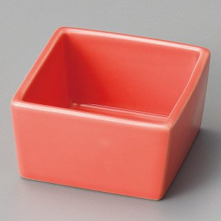 赤マス型小鉢 和食器 珍味 業務用