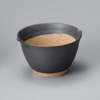 黒マット麦トロ鉢 中 和食器 すり鉢関連 業務用