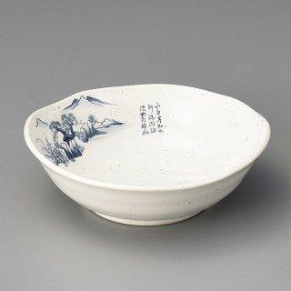 粉引山水4.0鉢 和食器 小鉢(大) 業務用 約14cm 白系 和食 和風 鉢 サラダ 枝豆 煮物 デザート 冷奴 おひたし