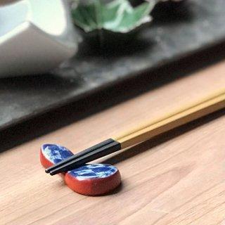市松ひさご箸置き 和食器 箸置 業務用