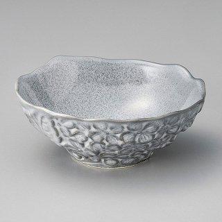 グレー花 平小鉢 和食器 小鉢(大) 業務用 約14.5cm 和食 和風 鉢 サラダ 枝豆 煮物 デザート 冷奴 おひたし