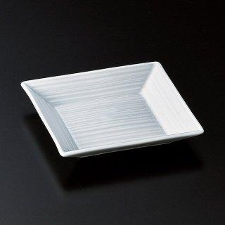 砂粉引貫入千段角皿 中 和食器 小皿 業務用