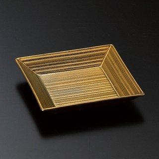 ゴールド千段角皿 中 和食器 小皿 業務用