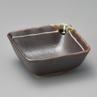 鉄釉白ライン36角小鉢 和食器 小鉢(小) 業務用