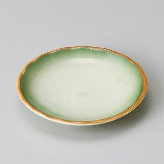 緑翠3.5丸皿 和食器 小皿 強化 業務用