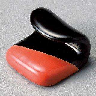 塗分赤黒巻紙箸置き 和食器 箸置 業務用