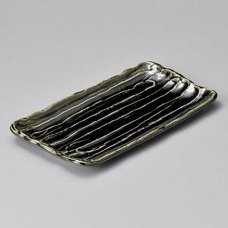 荒ソギ織部33cmほっけ皿 和食器 長角大皿 業務用