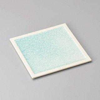 クリアクリスタル青23cm正角皿 和食器 角皿(中) 業務用