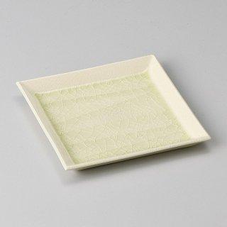 削ぎベージュ角皿 中 和食器 フルーツ皿・銘々皿・取皿 業務用