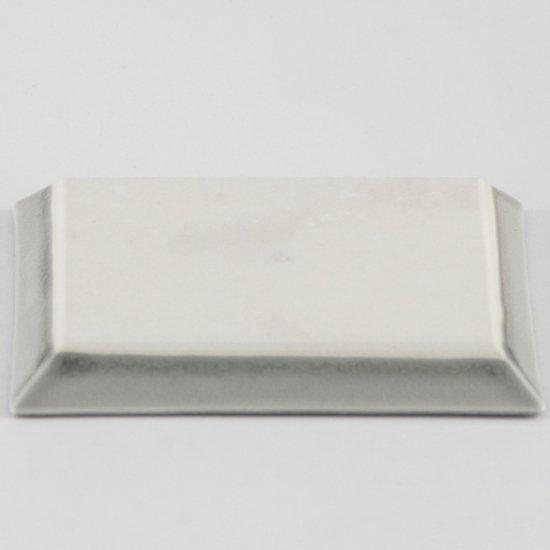 削ぎグレー角皿 中 和食器 フルーツ皿・銘々皿・取皿 業務用