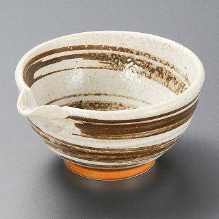 梨地茶刷毛目3.6片口鉢 和食器 小鉢(大) 業務用 約12.7cm 和食 和風 鉢 和え物 居酒屋 料亭 酢の物 おひたし