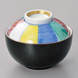 黒結晶紙風船小煮物碗 和食器 蓋向・円菓子碗 業務用