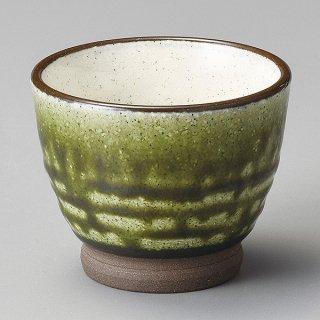 オリベ釉塗分けミニカップ 和食器 煎茶 業務用