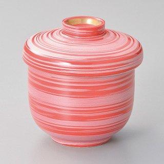 赤釉銀彩刷毛むし碗 和食器 むし碗 業務用