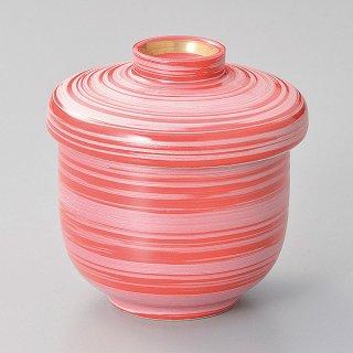 赤釉銀彩刷毛小むし碗 和食器 むし碗 業務用