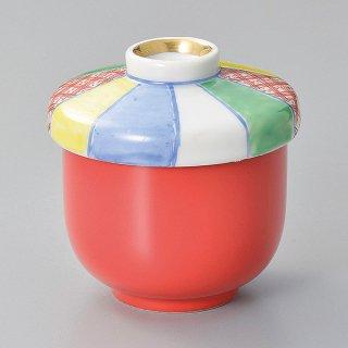 赤釉紙風船むし碗 和食器 むし碗 業務用