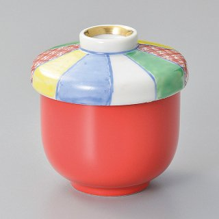 赤釉紙風船小むし碗 和食器 むし碗 業務用