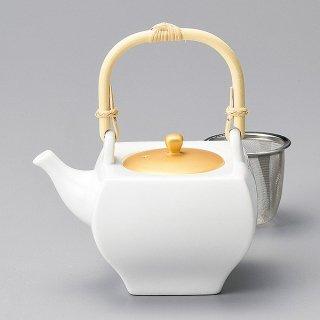 金彩角土瓶 カゴアミ付 和食器 土瓶(小) 業務用