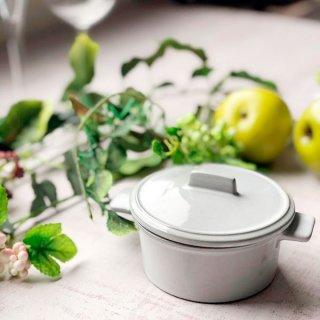 GC10cm手付きココット 蓋付 ホワイト 洋食器 オーブンウェア スフレ・ココット 業務用 白 丸型 両手 耳付き ふた付き