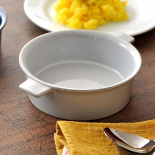 GC15cm手付き丸グラタン ホワイト 洋食器 オーブンウェア グラタン 業務用 両手 耳付き 丸型 白 グラタン皿