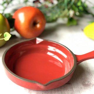 GC13cm片手パン レッド 洋食器 オーブンウェア グラタン 業務用 手付き 丸型 赤 グラタン皿 オーブン料理 モダン