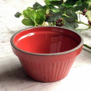 GC10cmスフレ レッド 洋食器 オーブンウェア スフレ・ココット 業務用 約10cm 丸型 赤 カップ ボウル デザート鉢