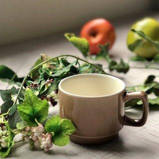 ココアスタックマグ 洋食器 マグ 業務用 約250cc 茶色 マグカップ 手付き カップ コーヒー カフェオレ カフェ カフェ風