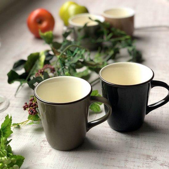 カーキスタイルマグ 洋食器 マグ 業務用 約260cc カーキ マグカップ 手付き カップ コーヒー カフェオレ カフェ