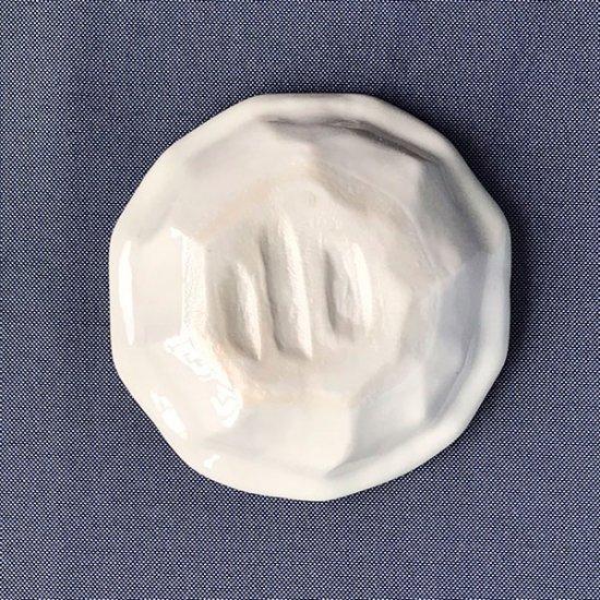 トルコ貫入12cm灰皿 和食器 灰皿 業務用 丸 トルコブルー 貫入 青系 おしゃれ 卓上 和風 陶器 陶磁器 美濃焼 日本製