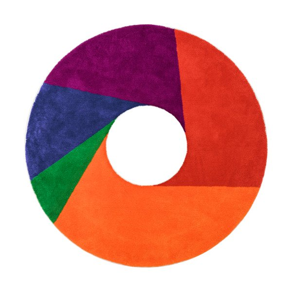 Max Bill Rug [Color Wheel] φ1600mm